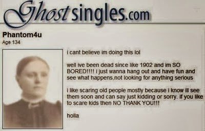 ghosts,online dating,funny