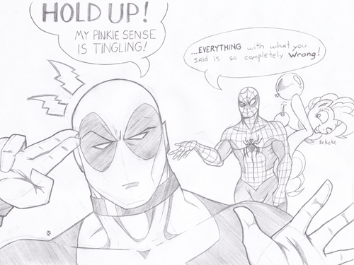 deadpool,pinkie pie,Spider-Man