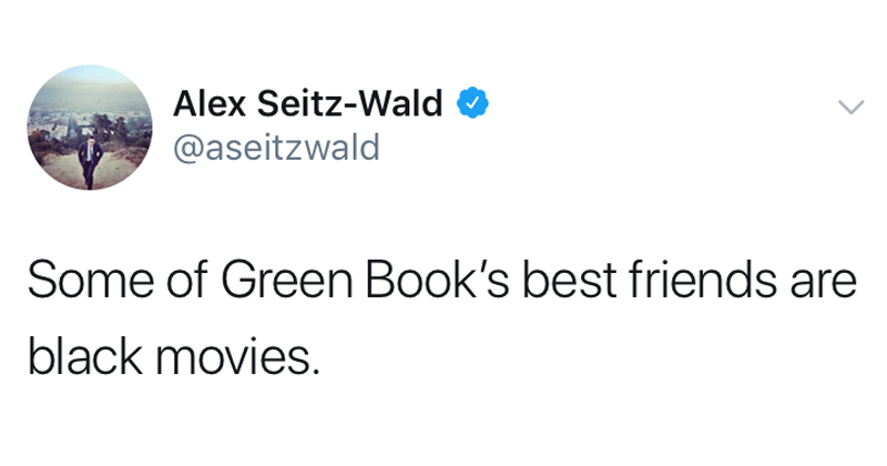 Memes about Green Book's Oscar win, academy awards.
