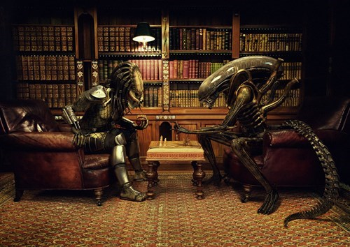 alien v predator,Predator,alien,chess
