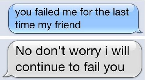 friends,failing,texting