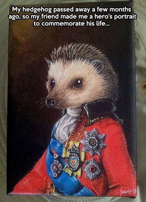 art portraits hedgehogs - 7824837376