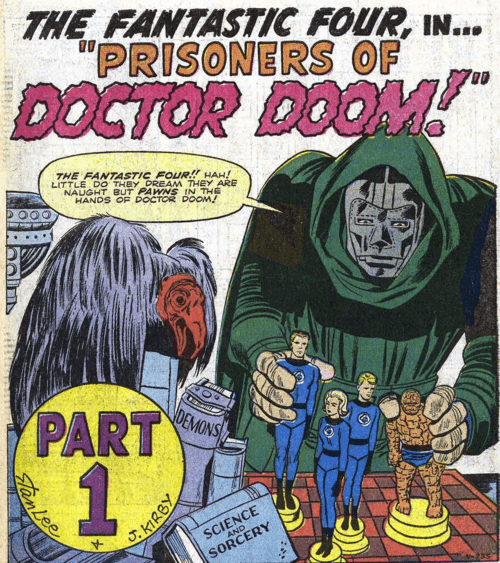 off the page doctor doom Fantastic Four - 7824838912