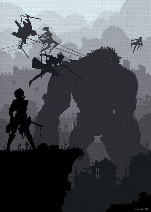 crossover anime Fan Art attack on titan shadow of the colossus - 7824847104