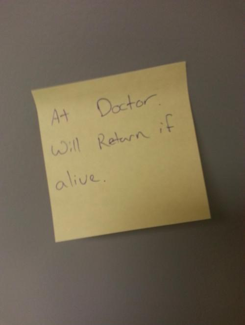 post-it notes,doctor