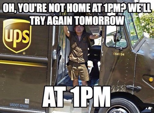 mail carriers,scumbags,UPS