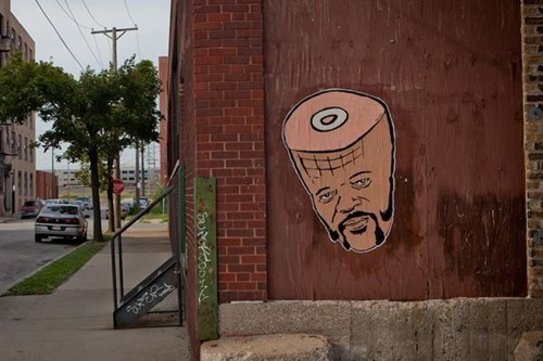 Street Art Hanksy Samuel L Jackson hacked irl funny - 7825195520