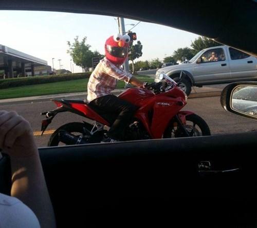 motorcycles,elmo,Sesame Street,funny
