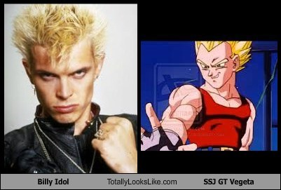 Dragon Ball Z,vegeta,totally looks like,billy idol