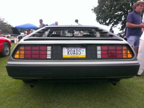 DeLorean back to the future cars nerdgasm license plate funny - 7826356736