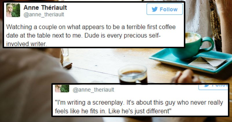 date cringe writer pretentious relationships ego guy story funny stupid dating coffee - 7826437