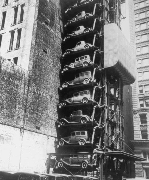 New York City Car Parking in 1930