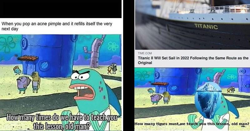 spongebob meme throwing shade