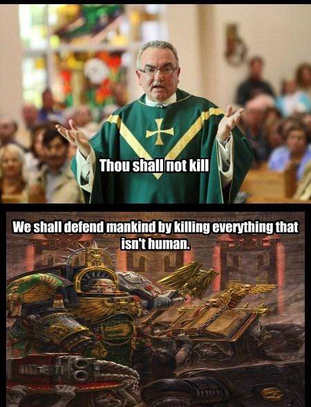 rules religion warhammer 40k funny - 7826800384
