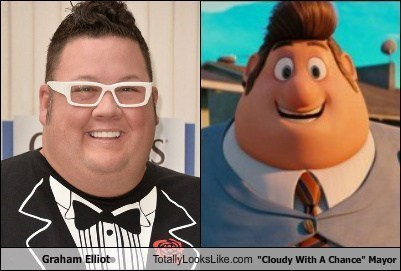 mayor cloudy with a chance of meatballs totally looks like funny graham elliot - 7827064832
