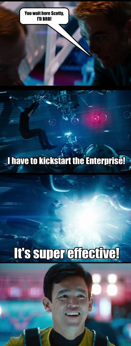 kickstart,Star Trek,funny