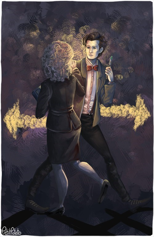 Fan Art 11th Doctor doctor who River Song - 7827236864