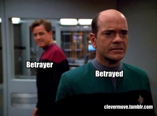Betrayer Betrayed clevermove.tumblr.com