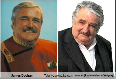 jose mujica,totally looks like,james doohan