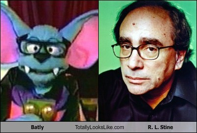 rl stine totally looks like batly funny - 7827785472