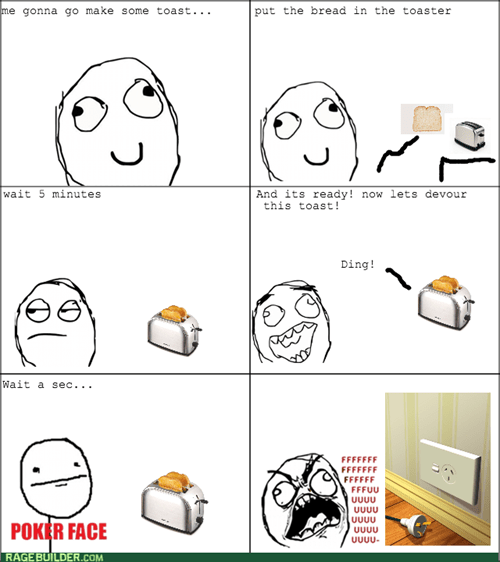 rage breakfast unplugged toaster - 7827881472