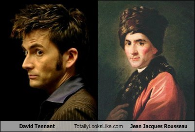 David Tennant,jean jacques rousseau,totally looks like,funny