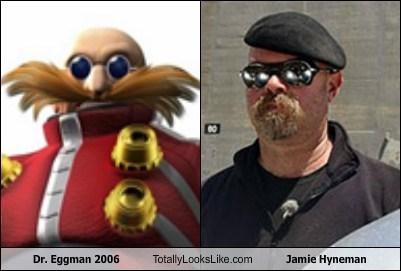 dr-eggman jamie hyneman totally looks like funny