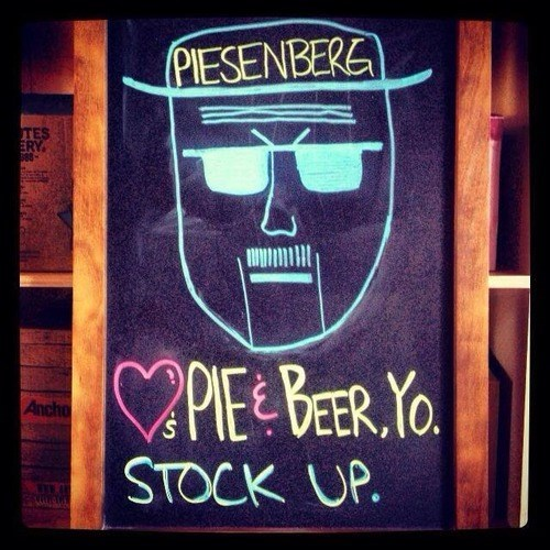 beer sign awesome pie food funny - 7828185856