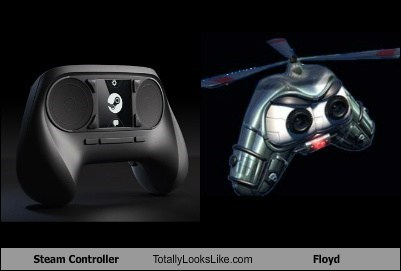 steam controller totally looks like floyd funny