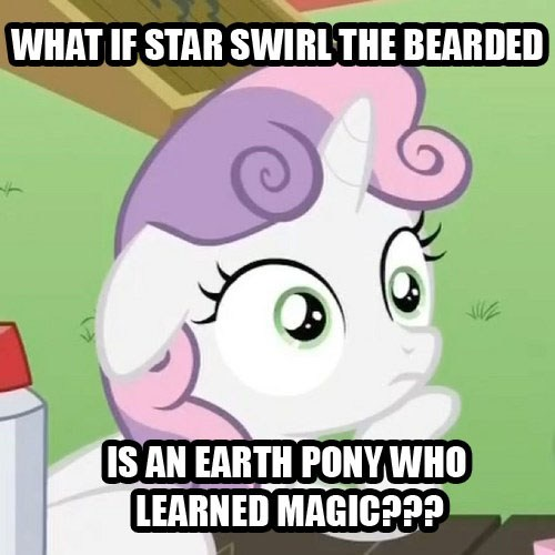 star swirl the bearded earth pony Sweetie Belle - 7828696576