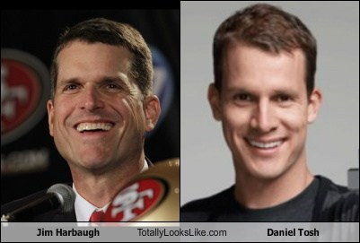 jim harbaugh totally looks like daniel tosh funny