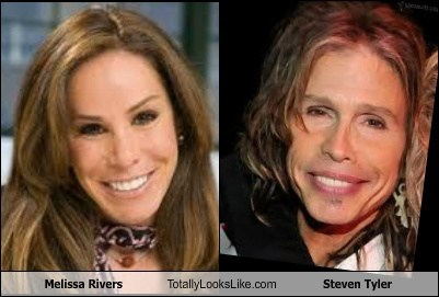 melissa rivers,steven tyler,totally looks like,funny
