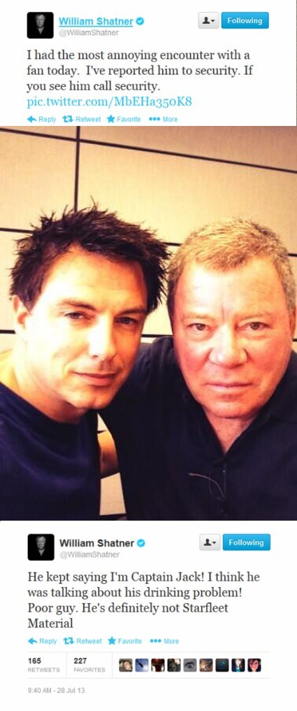 twitter William Shatner john barrowman - 7829620224