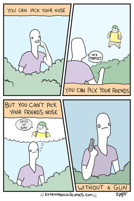 noses guns gross friends funny web comics - 7829781504