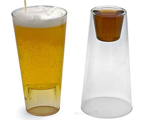 beer invention glass funny shot - 7829872640