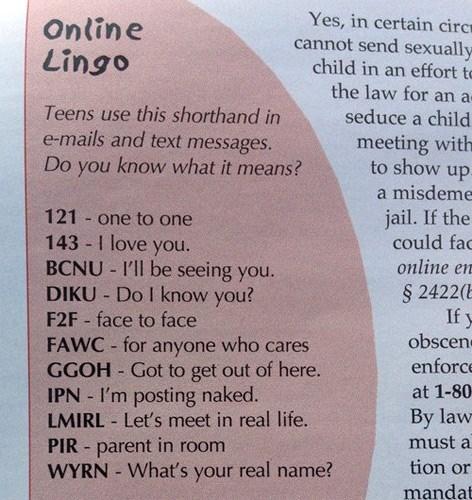lingo slang cringeworthy funny