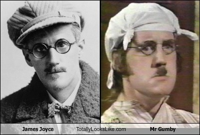 mr-gumby monty python totally looks like james joyce funny