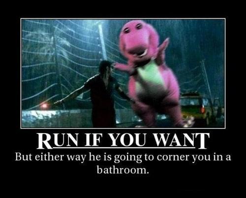 barney the dinosaur,jurassic park,funny,t rex