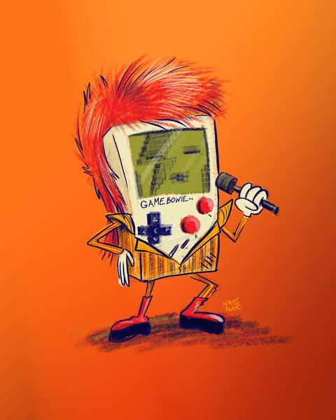 crossover art game boy david bowie - 7830125312