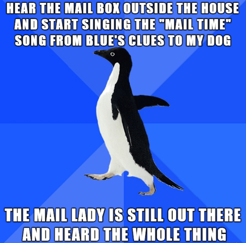 socially awkward penguin Memes blues clues - 7830198272
