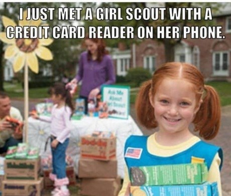 credit cards,americana,cookies,girl scouts