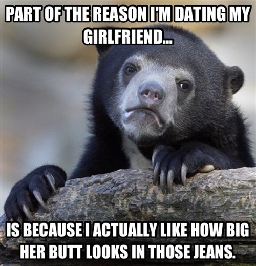 butts Confession Bear funny - 7830232576