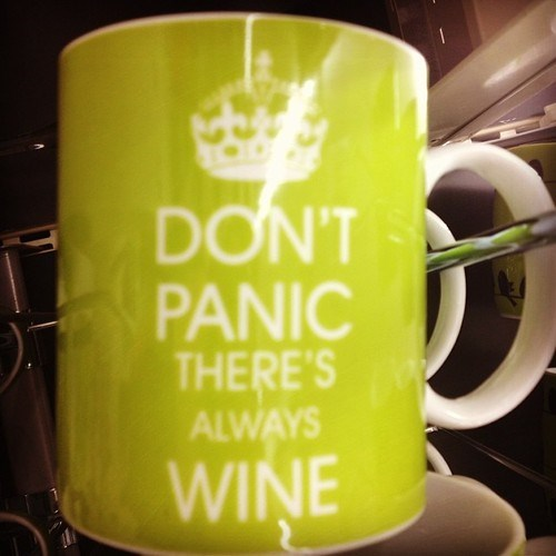 wine dont-panic funny mug after 12 g rated - 7830246656
