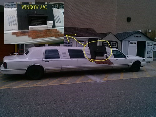 bricks,limo,air conditioner,there I fixed it