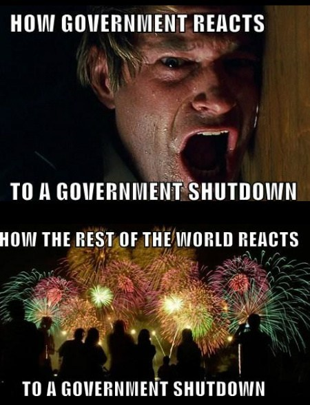 government shutdown government reactions funny - 7831151360