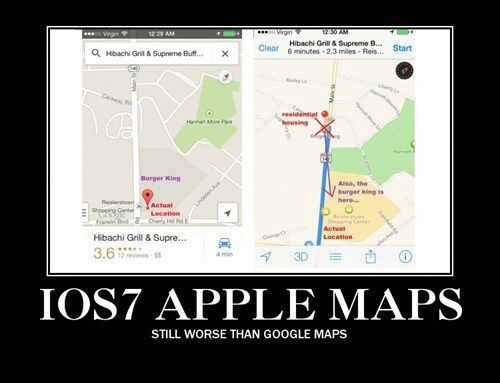 terrible apple maps funny google - 7831247872