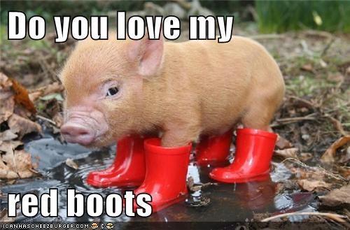 piglets boots cute rain - 7831324672