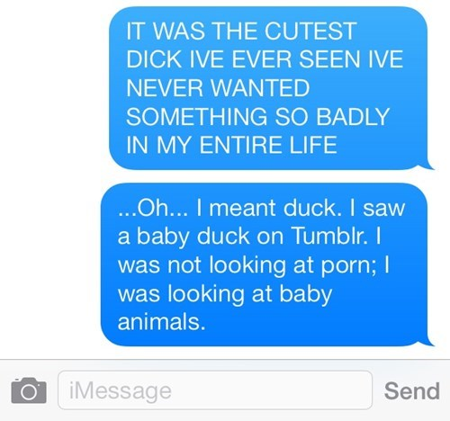 baby duck autocorrect text cute AutocoWrecks - 7831358720
