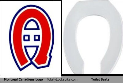 Fabulous Montreal Canadiens Logo Totally Looks Like Toilet Seats Short Links Chair Design For Home Short Linksinfo