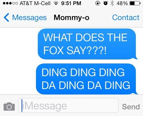 the fox kids text moms what does the fox say parenting - 7831464704